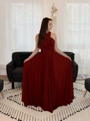 brautatelier ried-brautjungfernkleider-bridesmaids-two birds ny-long dress-burgundy-vorne-2