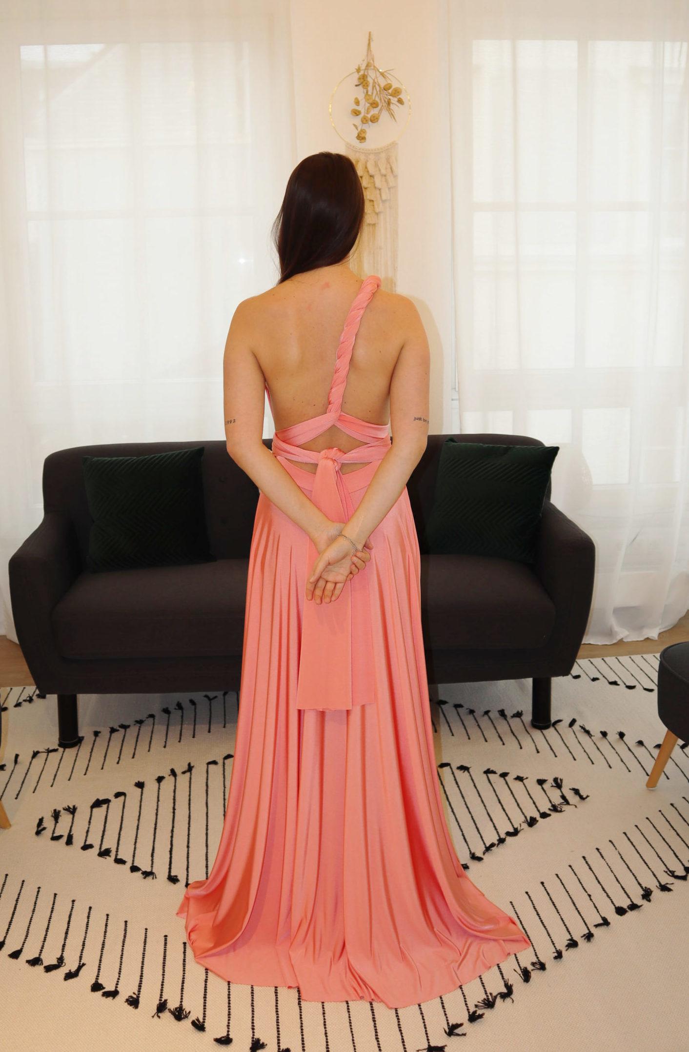brautatelier ried-brautjungfernkleider-bridesmaids-two birds ny-long dress-coral-ruecken-1