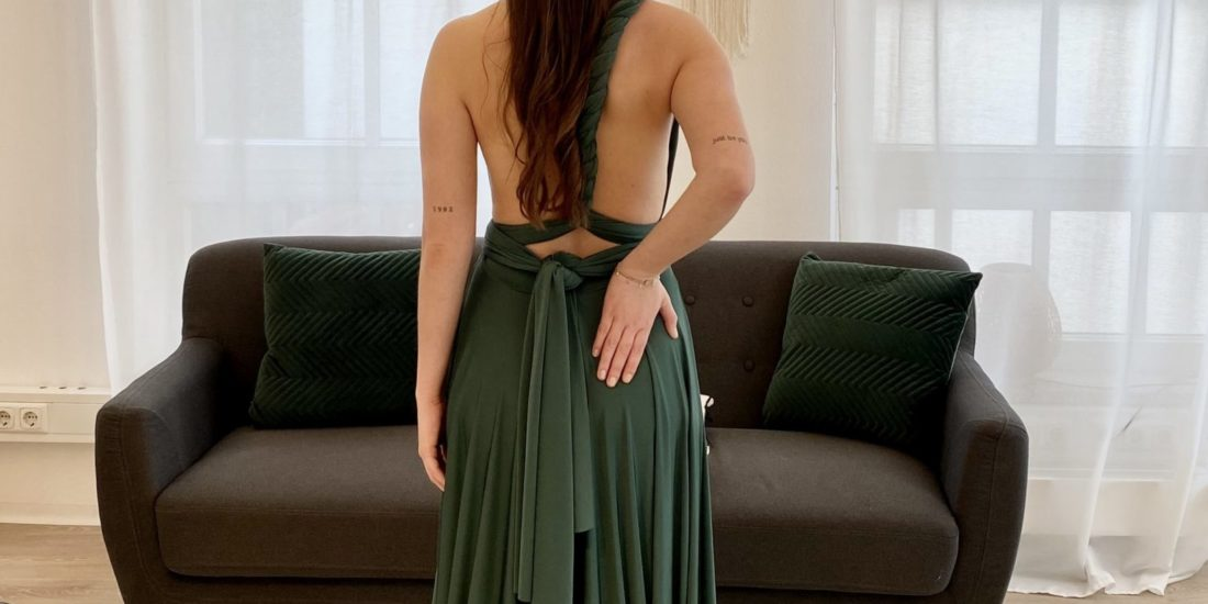 brautatelier ried-brautjungfernkleider-bridesmaids-two birds ny-long dress-smaragd-ruecken-1